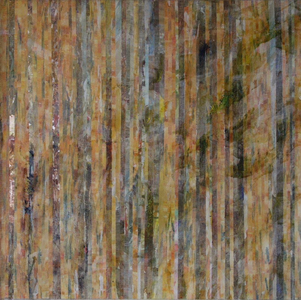Farbsituation in einem Garten2018 50 x 50 cm